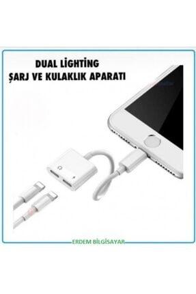Erdem Bilgisayar Apple Iphone Dual Lightning Şarj Ve Kulaklık Aparatı Dönüştürücü