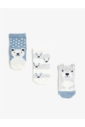 Koton Erkek Bebek Desenli Çorap Seti Pamuklu
