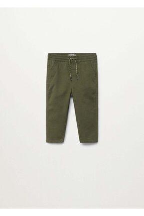 MANGO Baby Erkek Bebek Haki Beli Elastik Pantolon