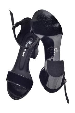 Ayakland 2013-03 Rugan 7 Cm Topuk Kadın Sandalet Ayakkabı