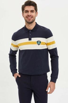 DeFacto Erkek Lacivert Polo Yaka Regular Fit Sweatshirt N2479AZ.20SP.NV71