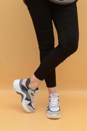 Evarmis Kadın Pembe Yüksek Taban Sneaker Ayakkabı 601
