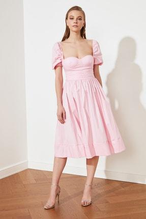 TRENDYOLMİLLA Pembe Yaka Detaylı Elbise TPRSS21EL2911