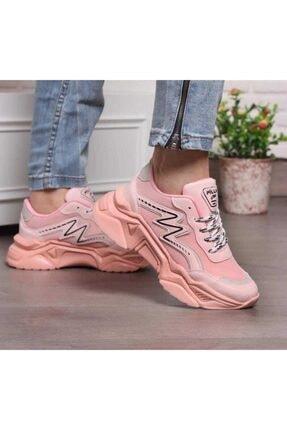pilla papuç Kadın Pembe  Spor Ayakkabı