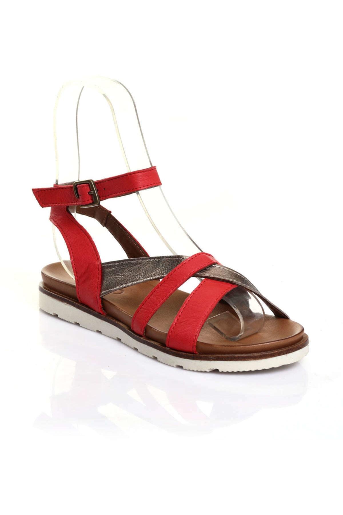 BUENO Kırmızı Kadın Sandalet 9L0510 1