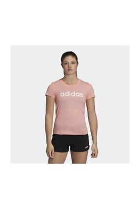 adidas W E LIN SLIM T +PB. Pembe Kadın T-Shirt 100547736