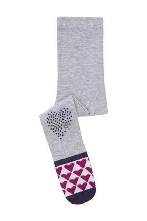 Bross Tabanaltı Ve Dizi Abs Kalp Baskılı Bebek Külotlu Çorap