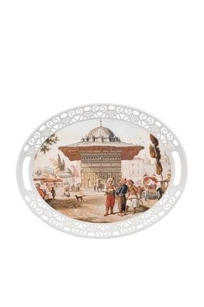 Karaca Eski İstanbul Melamin Oval Tepsi