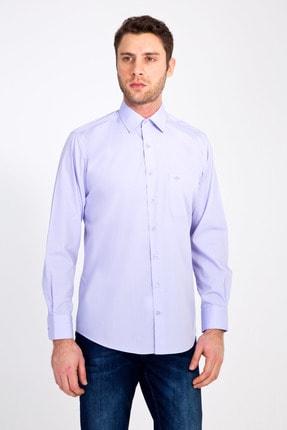 Kiğılı Erkek Lila Uzun Kol Klasik Gömlek