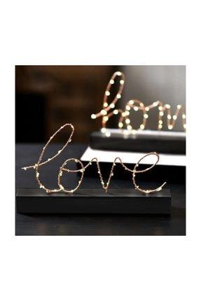 CajuArt Aşk Love Yazılı Pilli Led Işık Ev Dekor Aydınlatma Lamba