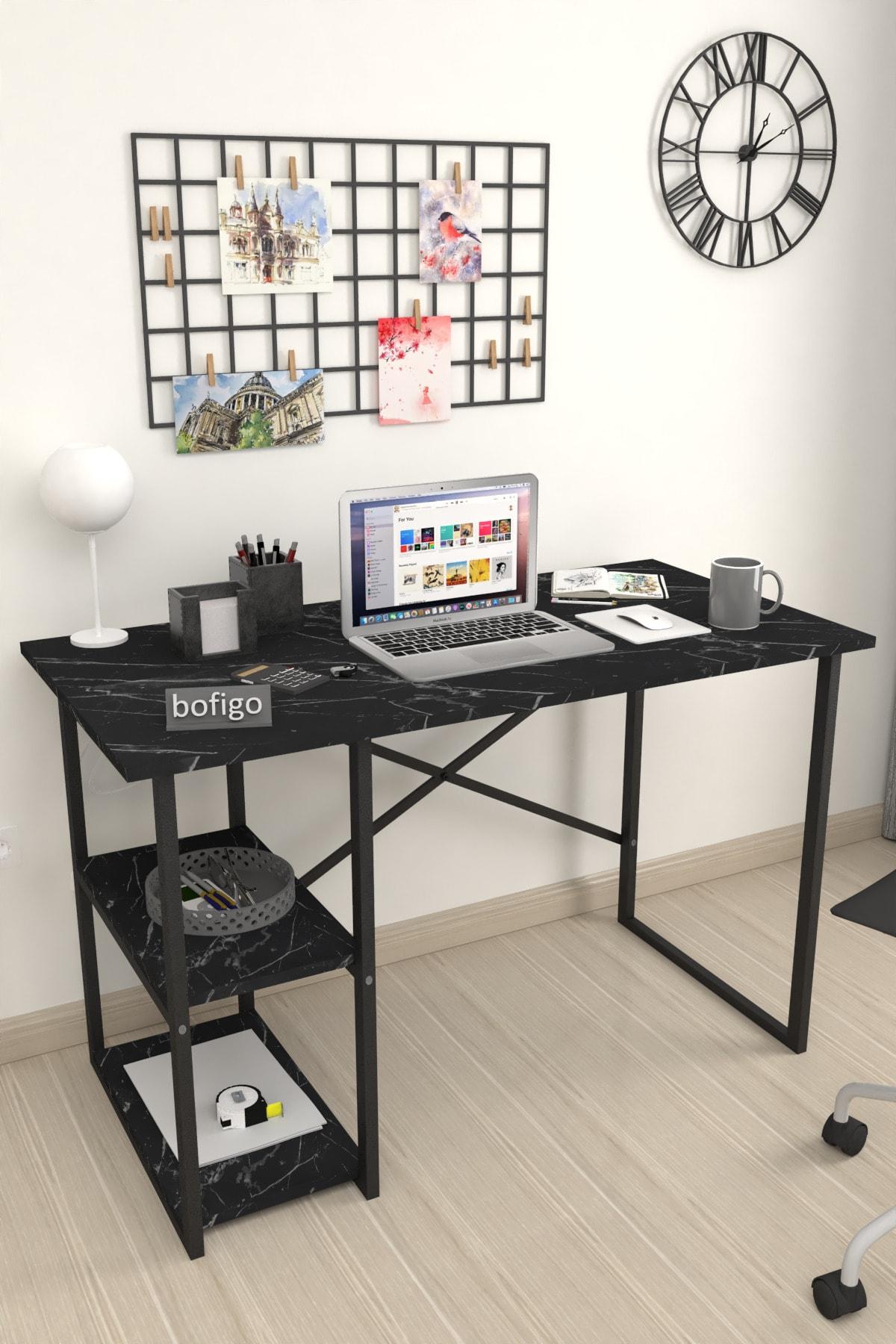Bofigo 60x120 Cm 2 Raflı Çalışma Masası Bilgisayar Masası Ofis Ders Yemek Masası Bendir 2
