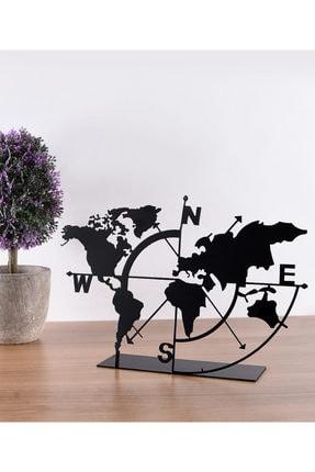 Muyika Design Muyika Metal Masa Üstü Biblo Dünya Haritası 18x26cm