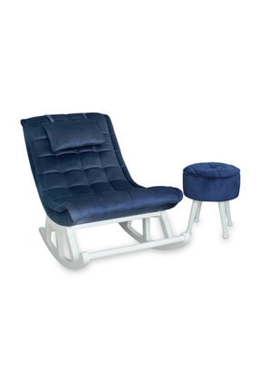 Asedia Teksas Miskin Lake Beyaz -lacivert Sallanan Sandalye