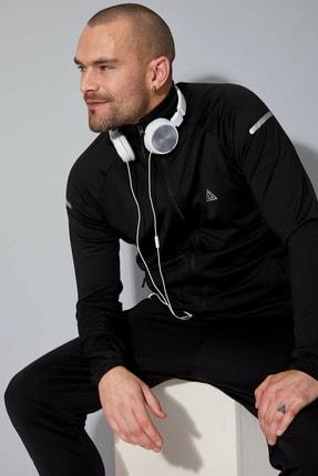 DeFacto Erkek Fermuarlı Slim Fit Spor Sweatshirt