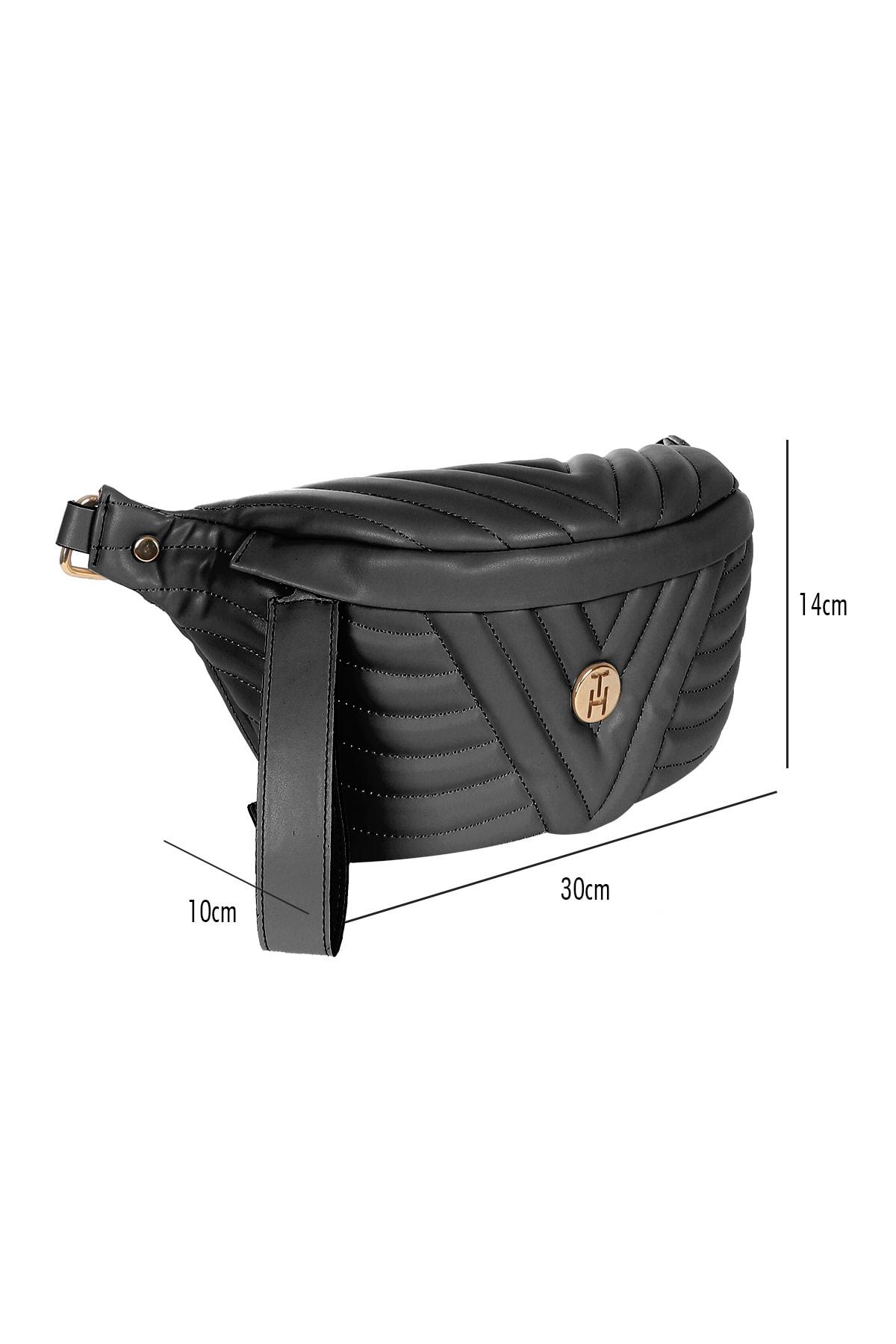 TH Bags Siyah Kadın Bel Çantası 0THCW2020328 2