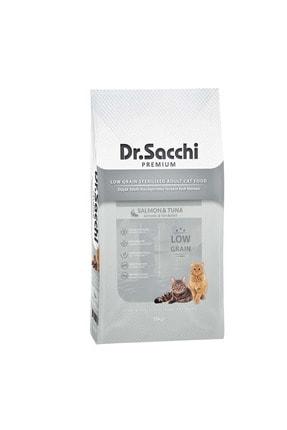 Dr. Sacchi Dr.sacchi Düşük Tahıllı Somonlu Ve Ton Balıklı Kısırlaştırılmış Kedi Maması 10kg