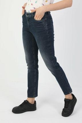 Colin's 703 Carla Slim Fit Orta Bel Düz Paça Kadın Indigo Jean Pantolon