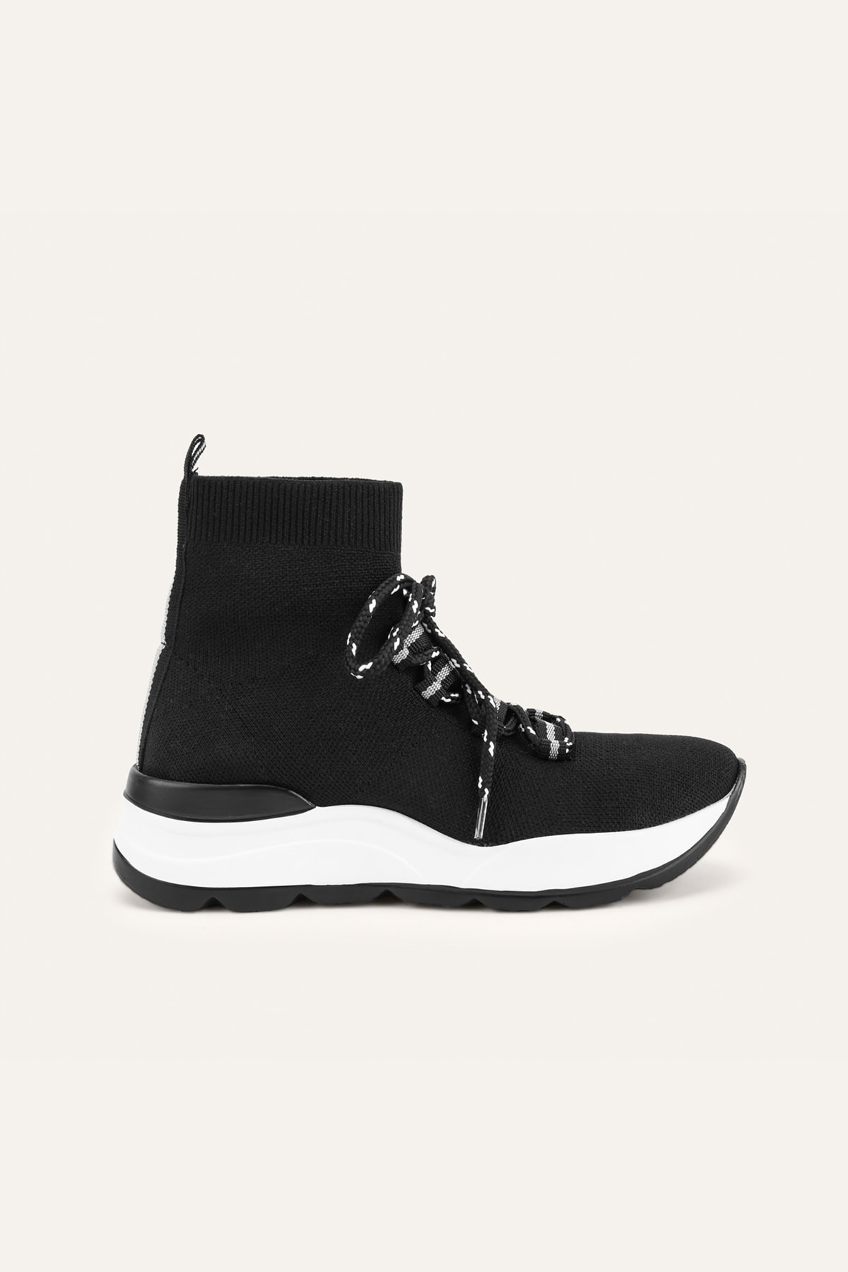 Mudo Kadın Siyah Çorap Yüksek Bilekli Spor Ayakkabı 370854