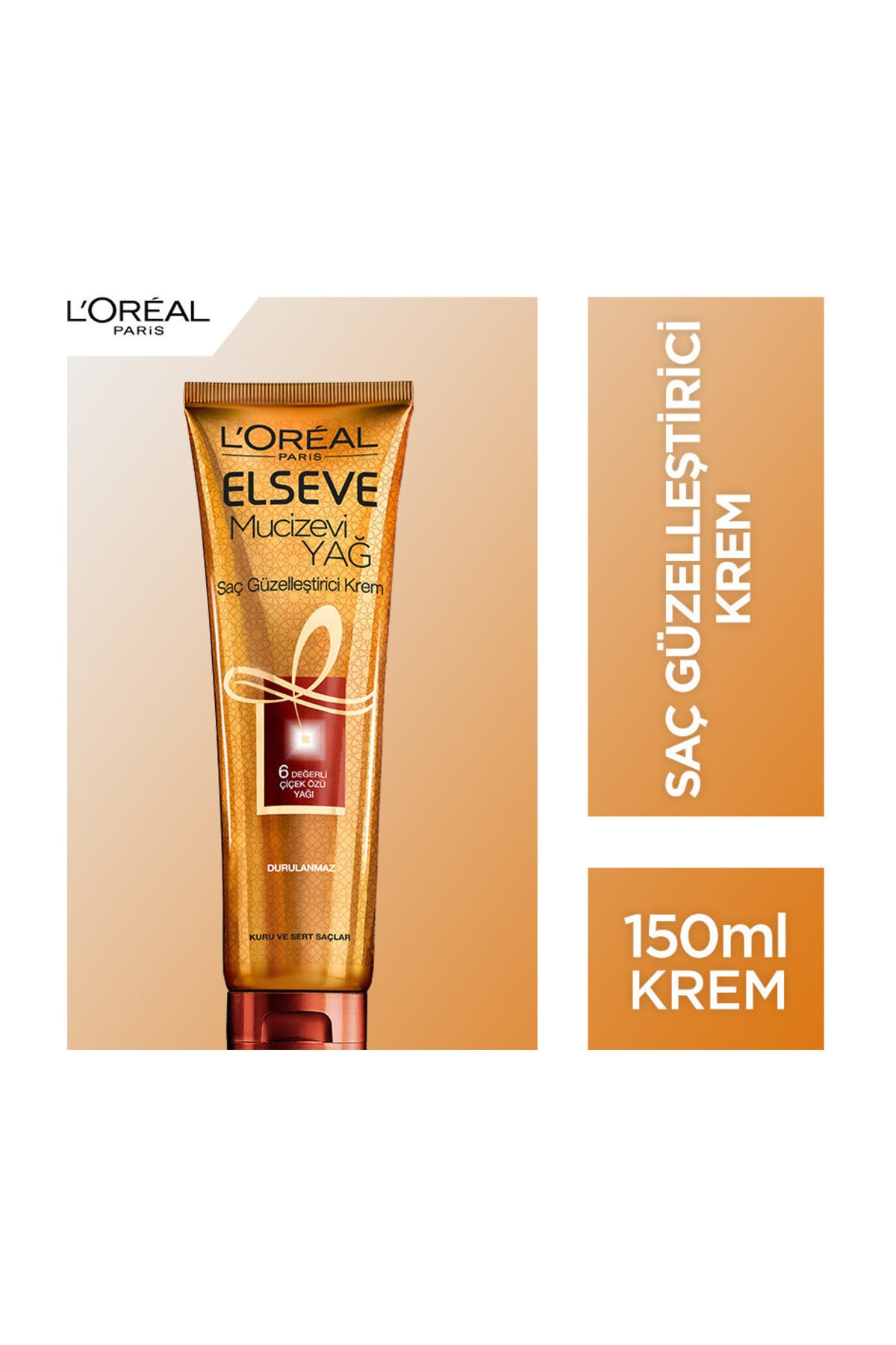 L'Oreal Paris Elseve Mucizevi Yağ Saç Güzelleştirici Krem 150 Ml (Kuru Ve Sert Saçlar İçin) 1