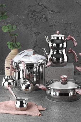Kütahya Porselen 18 Parça Çelik Çeyiz Seti Rose