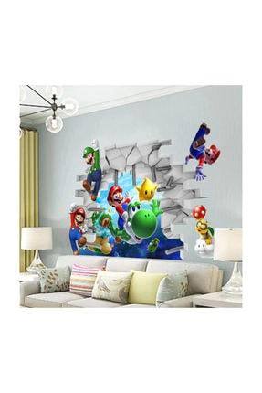 KT Decor Super Mario Bros 3d Duvar Sticker