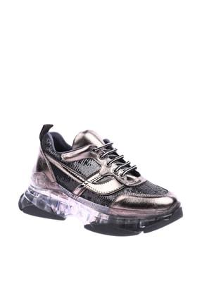 DGN K335 Kadın Şeffaf Kalın Taban Payetli Şık Spor Sneakers Ayakkabı 20Y