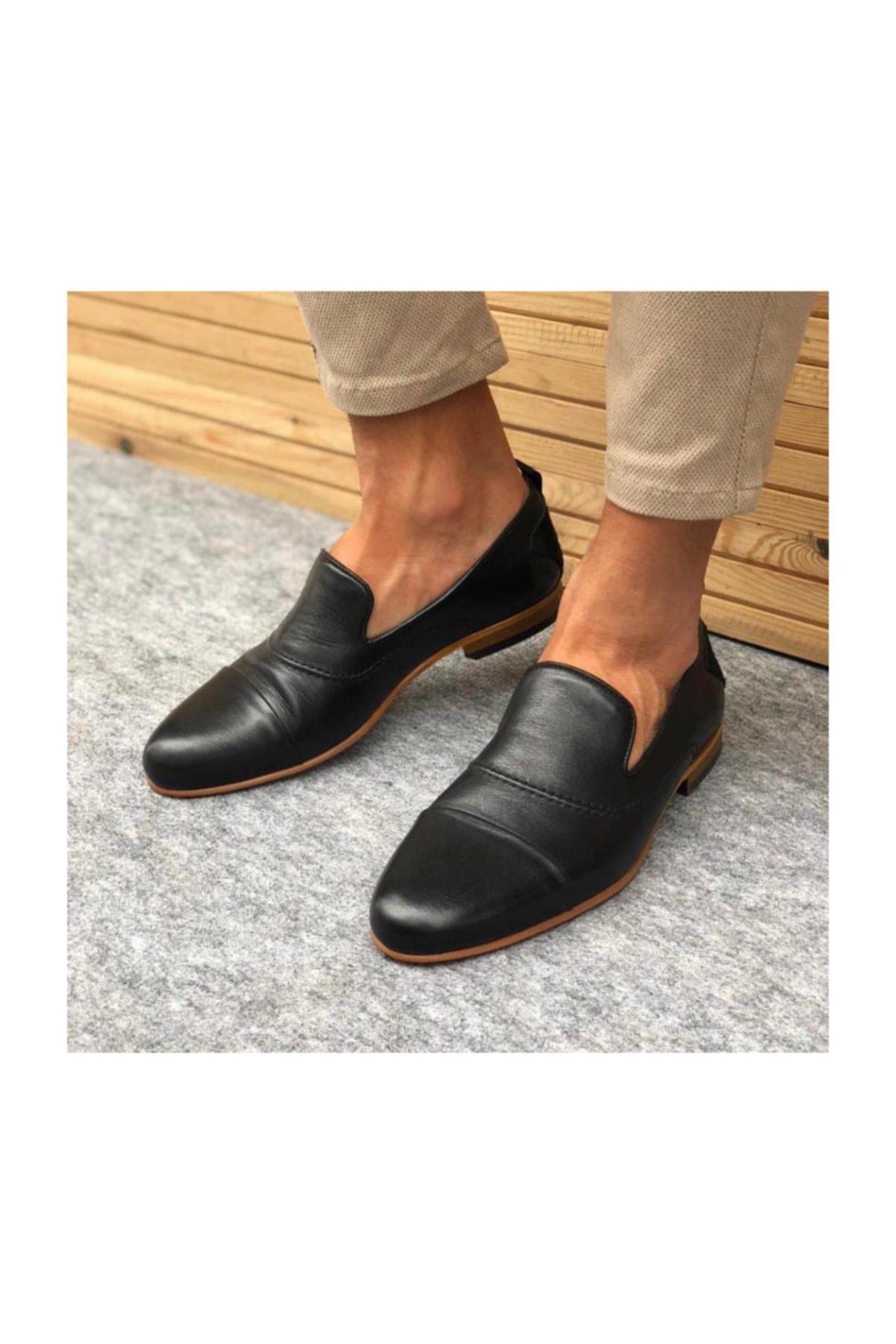 TETRİ Siyah Deri Klasik Ayakkabı 1