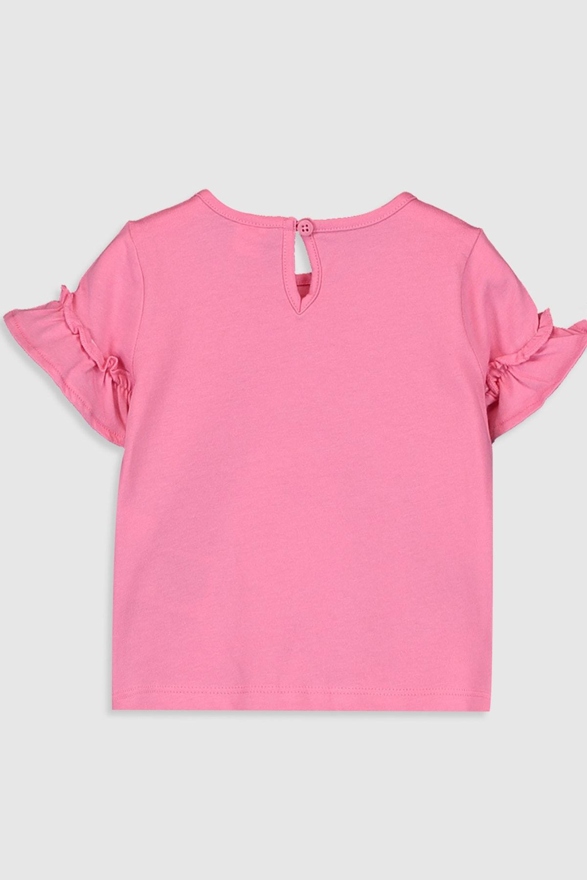 LC Waikiki Kız Bebek Pembe Gfu T-Shirt 2