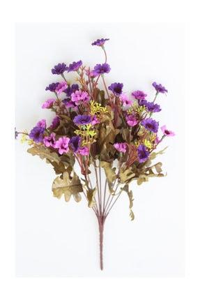 Yapay Çiçek Deposu Yapay Cipsolu 10 Dal Büyük Papatya Demeti Mor