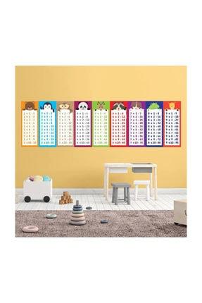KT Decor Hayvanlı Çarpım Tablosu Çocuk Odası Tek Parça Duvar Sticker