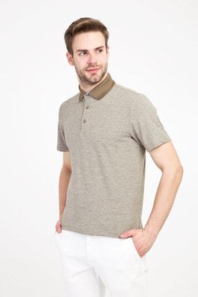 Kiğılı Erkek Koyu Yeşil Polo Yaka Regular Fit Desenli Tişört