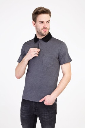Kiğılı Erkek Siyah Polo Yaka Regular Fit Tişört