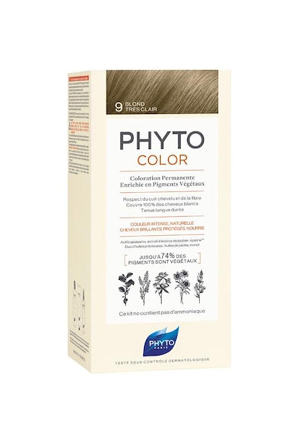 Phyto Color 9 Açık Sarı Bitkisel Saç Boyası 1