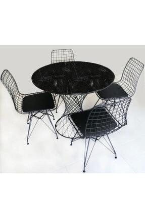 Mattecraft Mutfak Ve Yemek Masası Takımı Retro Model 4 Lü Sandalye