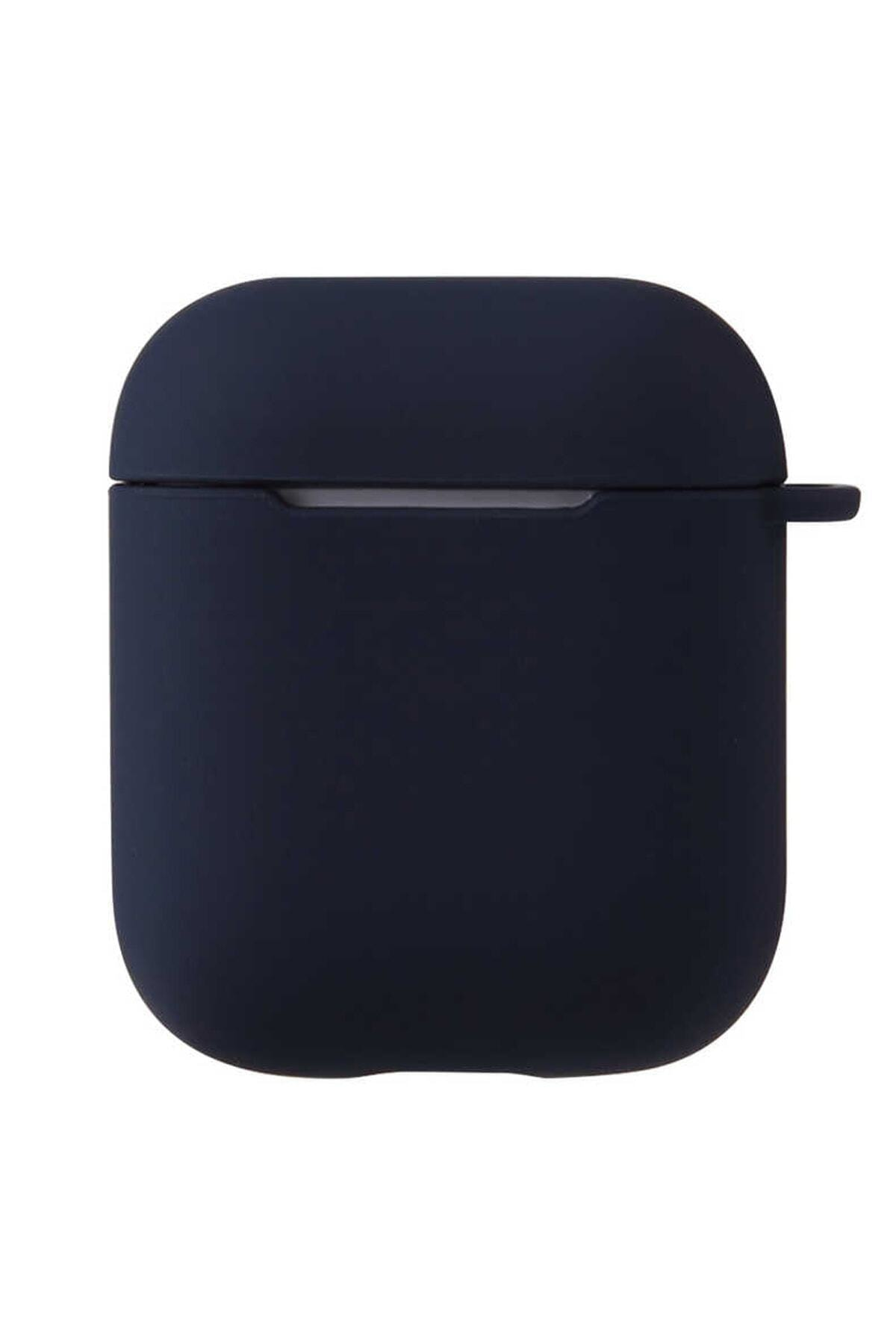 Sunix Airpods 2. Nesil Uyumlu Kılıf Pastel Renkli Silikon Koruma Kopçalı Siyah 1