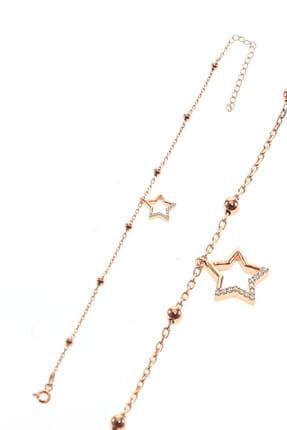Söğütlü Silver Kadın Gümüş Yıldız Ve Toplu Zincir Bileklik SGTL8850