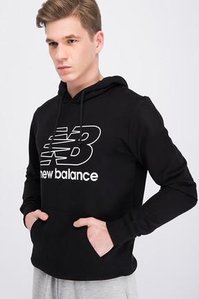 New Balance Erkek Sweatshirt - V-MTH809-BK