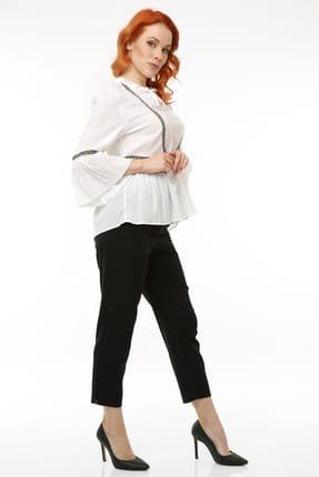 Pitti Kadın Beyaz Şile Bezi Bluz 10154