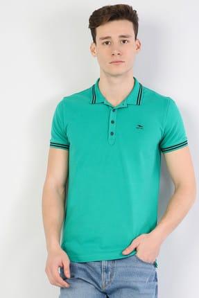 Colin's Slim Fit Polo Yaka Erkek Yeşil Polo Kısa Kol