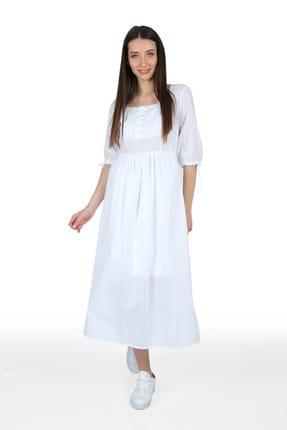 Pitti Kadın Beyaz Elbise 51044
