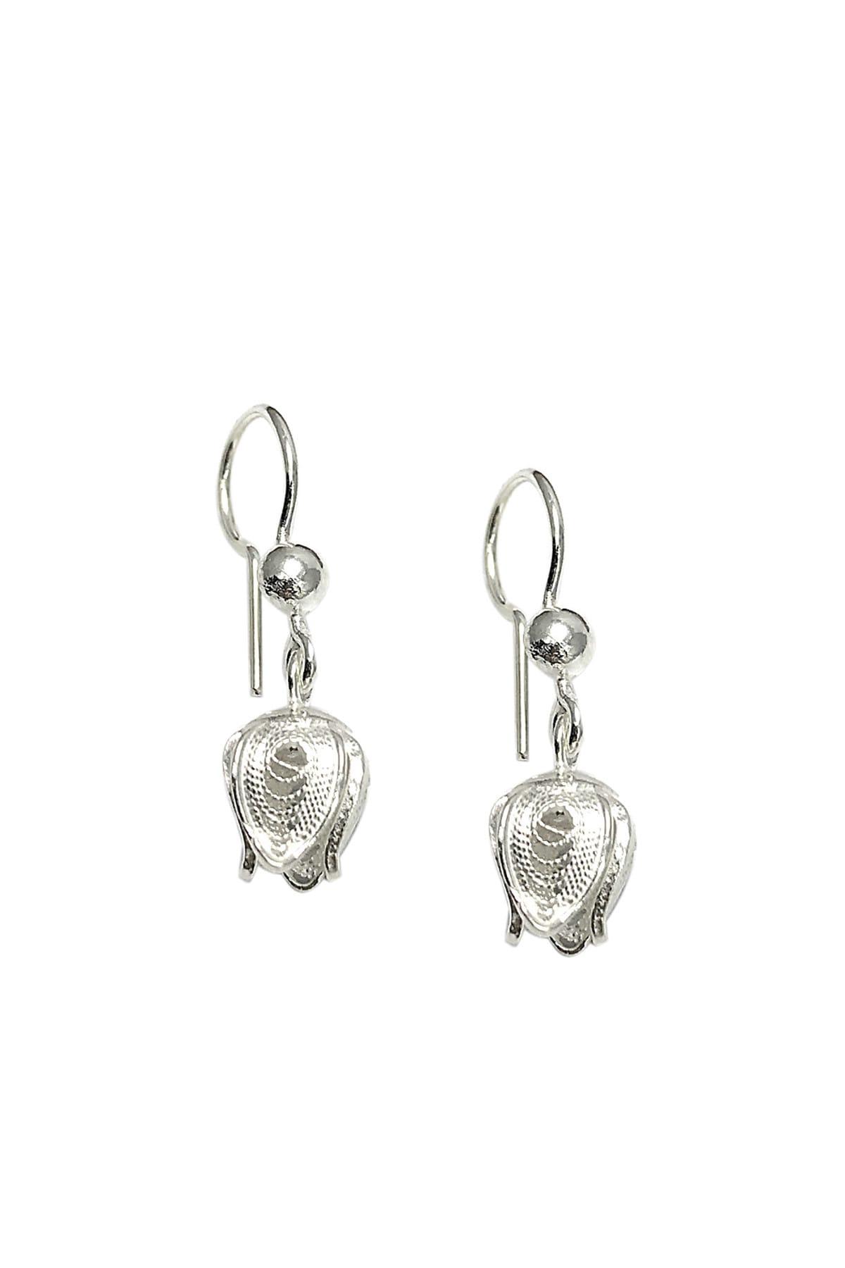Midyat Gümüş Dünyası Kadın Lale Model Telkari Gümüş Küpe 2020110 1