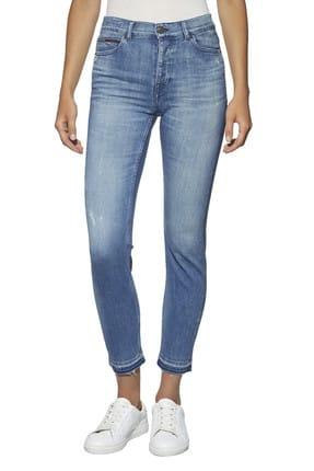 Tommy Hilfiger Kadın Hıgh Rıse Slım Izzy Dlbco Jeans DW0DW03570