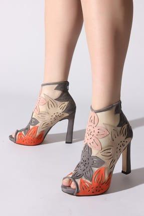 ROVIGO Gri Kadın Klasik Topuklu Ayakkabı 11110388958-01