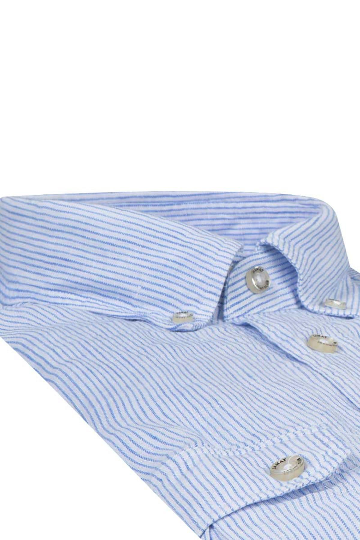 Damat Erkek  Mavi Casual Gömlek 2DC02S607284_701 2