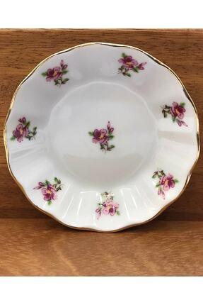 Porland Çay Tabağı 6'lı Pembe Çiçek