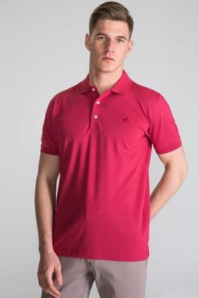 Karaca Erkek Slim Fit Pike T Shirt   Nar Çiçeği