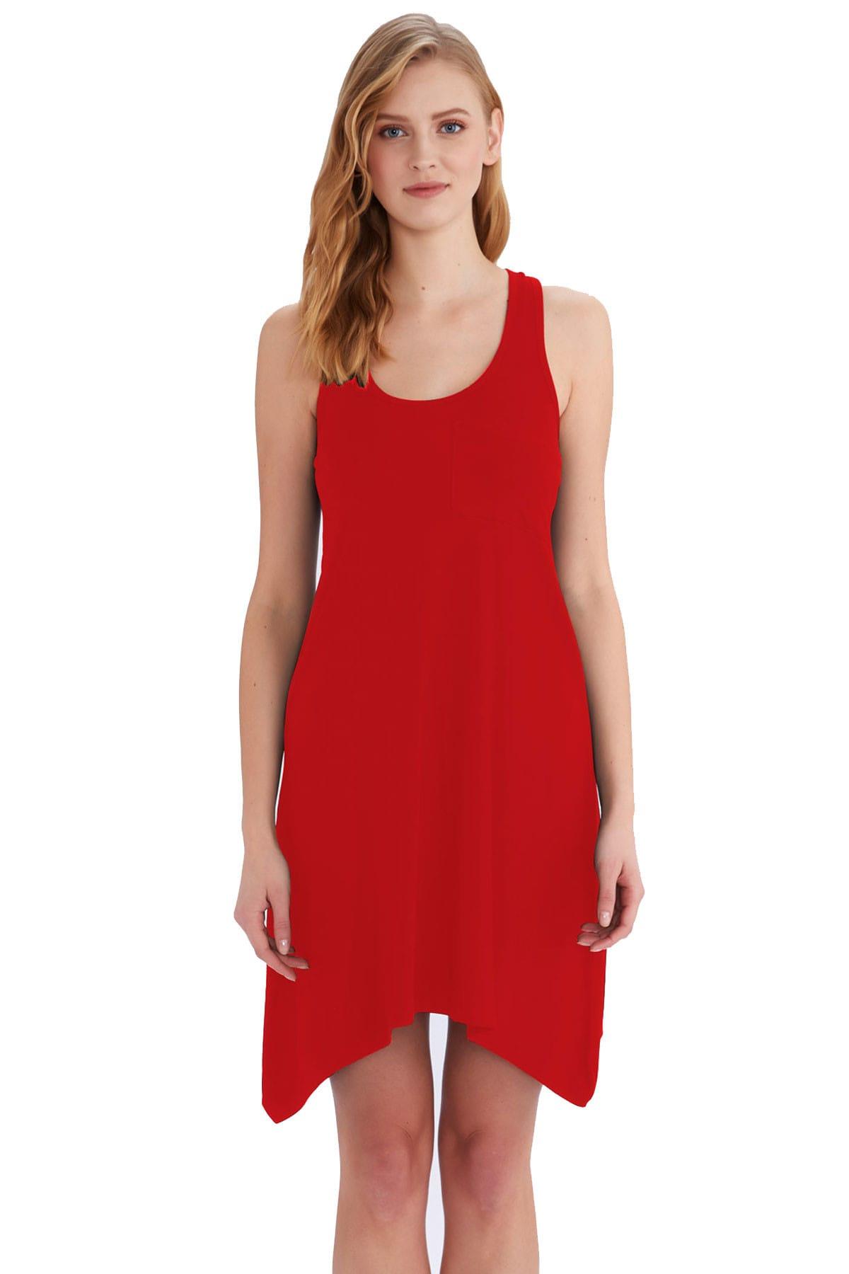 AYYILDIZ Kırmızı Kadın Elbise 59344 1