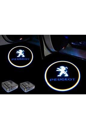 StrongMotors Peugeot Araçlar Için Pilli Yapıştırmalı Kapı Altı Led Logo-markana Özel Sticker Hediye-
