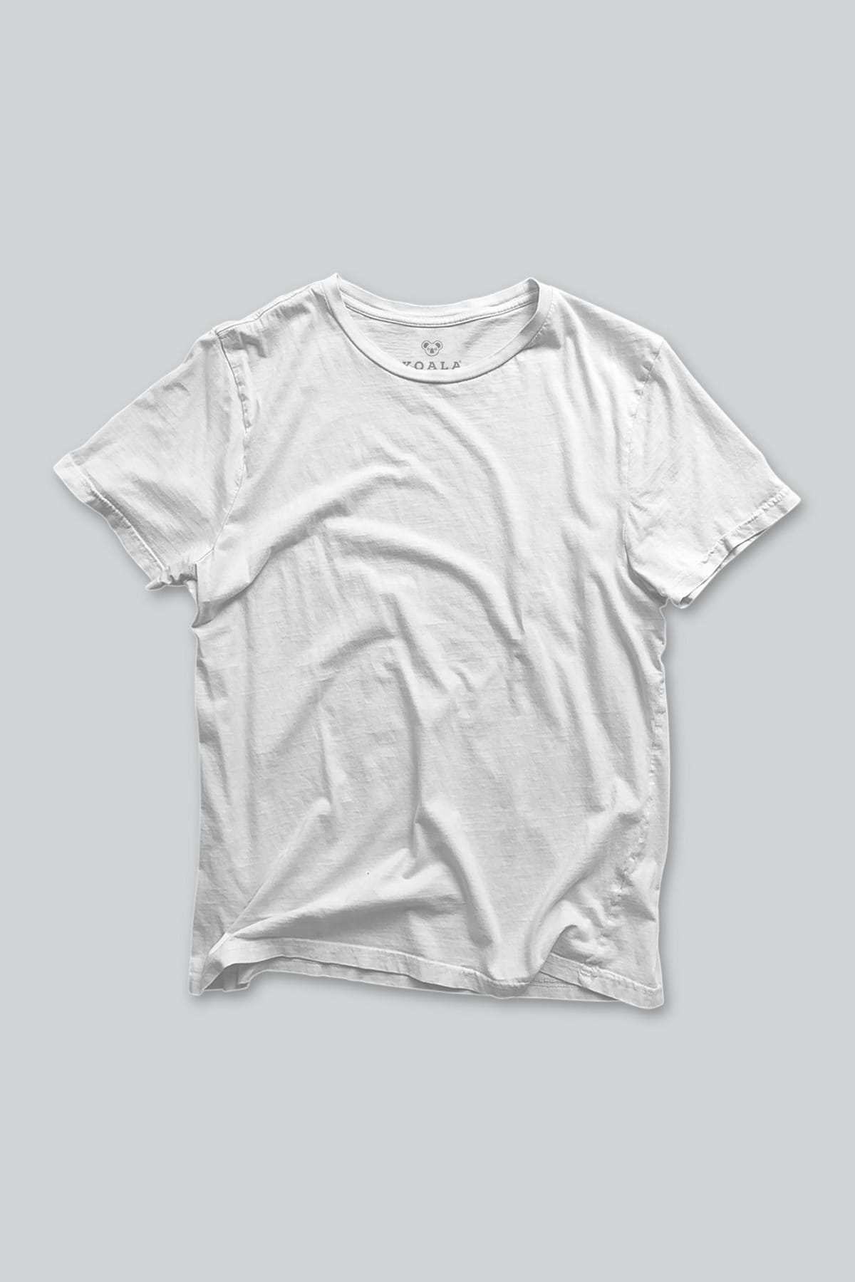 Koala Erkek Beyaz T-shirt BET001BBASIC 1