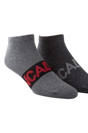 Calvin Klein Erkek Gri Füme 2 Li Çorap TUMYILECC373-98